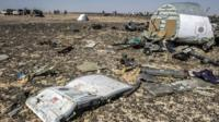 Debris from the Russian Airbus 321