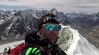 Ueli Steck on a mountain
