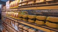 Food is wrapped in compostable biomaterial in the plastic free aisle