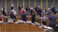 Jack Sargeant is given a standing ovation in the Welsh Assembly