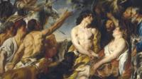 The piece is a rare oil study for one of Jordaens' best known works, Atalanta & Meleager