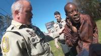 Antonio Smith during his encounter with Valdosta police officers