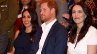 Duke and Duchess of Sussex with New Zealand's Prime Minister Jacinda Ardern