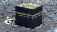Muslim pilgrims circumambulate the Kaaba, 30 September 2014