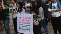 Tuần hành vì cây xanh ở Hà Nội ngày 22/3/2015