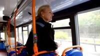 police officer on bus