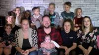 A couple from Hampshire who have 11 children say they just want a day off for Christmas.