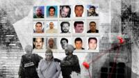 Mug shots of Mexican drug lords