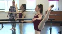 Julia in dance class