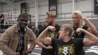De'Graft and wrestlers