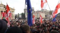 Протест против интеграции с Россией в Минске