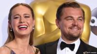 Brie Larson and Leonardo DiCaprio