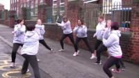 Mums' Team members stretching