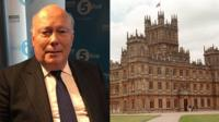 Julian Fellowes and Highclere Castle, the location for Downton Abbey