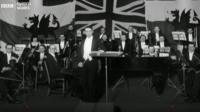 Picture of the National Orchestra's first performance in 1928