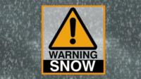 Snow warning.