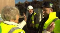 People on building site