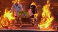 Punk memorabilia up in flames