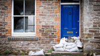 Sandbags outside house