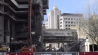 Demolition of Birmingham's old Central Library