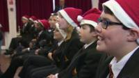 Pupils singing in school