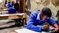 Kenyan pupils in class