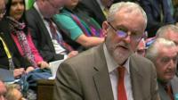 Jeremy Corbyn at PMQs