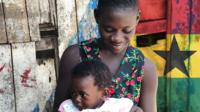 Ruth lives with her daughter in Takoradi, Ghana