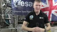 Tim Peake on the ISS
