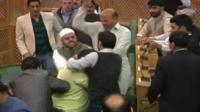 Brawl breaks out in India-administered Kashmir state assembly