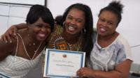 Women with a certificate
