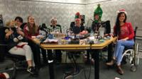 The Ouch team with guests during the podcast