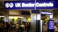 UK Border Control at Heathrow