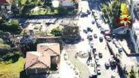 Aerial pictures of damage in Sicily