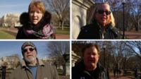 Composite image of Americans in Washington DC