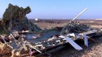 Sinai plane crash wreckage