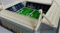 A Lego football ground