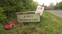 Kirby Misperton road sign