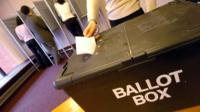 Ballot box in Hartlepool