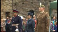 Both the military and the public marked the centenary of Mametz Wood at Caernarfon Castle