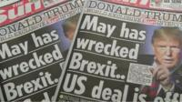 Sun front pages
