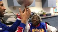 The 109 year-old's basketball birthday!