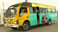Colourful public bus in Kenya