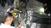 Police examine remains of missile
