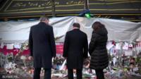 David Cameron and Francois Hollande outside the Bataclan theatre