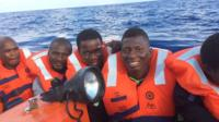 Migrants rescued on boat