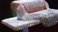 Robot covered in crystals