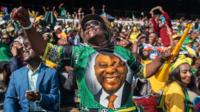 South Africa's President Cyril Ramaphosa was inaugurated at an event which included a flypast and military parade.