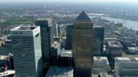 Canary Wharf, Barclays Citigroup and HSBC Buildings