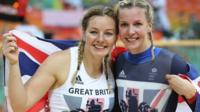 Katy Marchant and Becky James